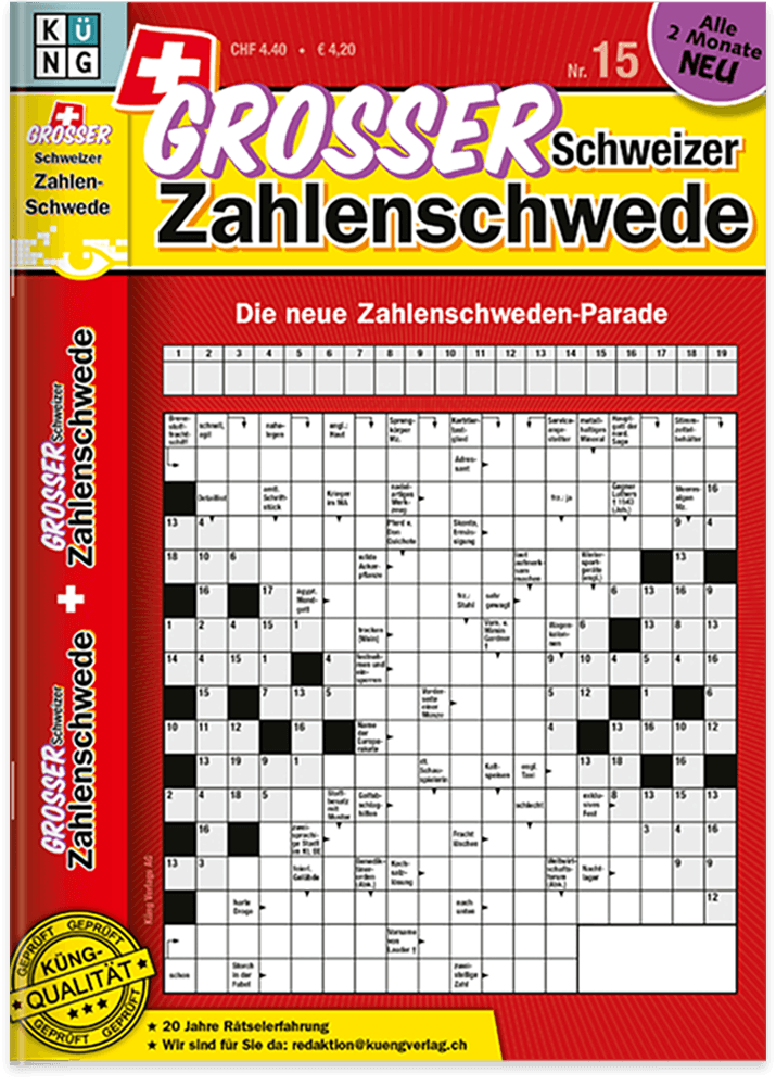Grosses Schweizer Zahlenschwede